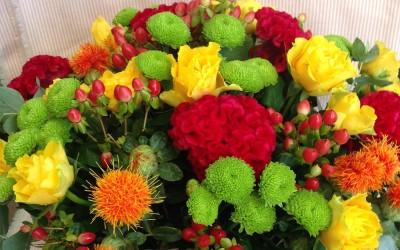 Latón de Rosas y Celosia